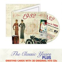 1930 to 1939  The Classic Years CD Greeting Card.